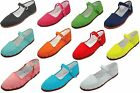 New Womens Cotton Mary Jane Shoes Flat Slip On Ballet Sandals Slippers