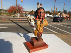 resin, American Indian and Pony warrior bust 240mm painted figure by Jones, VE