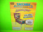 Zaccaria PINBALL CHAMP 1983 Pinball Machine Advertising Not A Sales Flyer