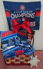 CUBS 2016 WORLD SERIES CHAMPS GIFT PACK (T-shirt, team roster tumbler, car flag)