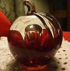 Handblown Glass Apple Paperweight, made by St. Clair, Rare Dark Burgundy Color