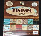 DCWV New Textured 12X12 Travel Stack Scrap Booking Card Stock