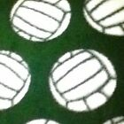 New 3 Yards Of Green White  Black Volleyball Fleece Fabric FREE Shipping