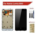 For Nokia Lumia 800 LCD Display Touch Screen Digitizer & Bezel Frame Assembly