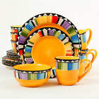 Gibson Home Fandango 16-Piece Dinnerware Set Yellow