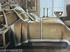 NIP NOBLE EXCELLENCE FULL QUEEN COVERLET FAUX SUEDE  SHEARLING MACHINE WASHABLE