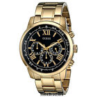 NEW GUESS WATCH for Men * Chronograph * Gold Tone w/Black Dial * U0379G4