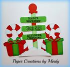 Craftecafe Mindy Christmas North Pole premade paper piece scrapbook page die cut