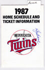 1987 Billy Beane Autograph Minnesota Twins Home Schedule Super America AUTO