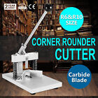 Manual Paper Corner Rounder Cutter R6  R10 Two Blades Cutting Stack PVC Paper
