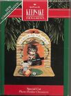 VINTAGE 1992 HALLMARK SPECIAL CAT PHOTO HOLDER CHRISTMAS ORNAMENT IN BOX
