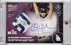 2016 Topps NOW 579-E Clayton Kershaw Autograph Game Used Base 22 25 AUTO 1 1