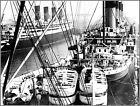 Photo: RMS Aquitania & RMS Olympic View From The SS Leviathan, Early 1920's