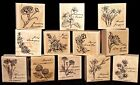 Stampin Up Flower of the Month Single Stamps 12 Birthday Flowers to choose from