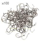 100pcs Carbon Steel Classic Boillie Carp Hook Wide Gape Fishing Tackles with Bar