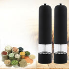 Fashion Black Electric Stainless Steel Pepper Mill Salt Grinder Battery Operated