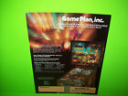 Game Plan CAPTAIN HOOK Original 1985 Flipper Game Pinball Machine Sales Flyer