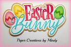 Craftecafe Mindy Easter Bunny title premade paper piecing scrapbook page