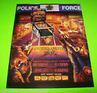 POLICE FORCE By Williams 1989 Original NOS Flipper PINBALL MACHINE Promo FLYER