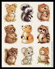 011 SS Animal Stickers BEAVER MOUSE RABBIT RACCOON SKUNK SQUIRREL