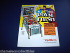 ROYAL FLUSH By GOTTLIEB 1976 ORIGINAL EM PINBALL MACHINE PROMO SALES FLYER