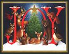 467-GC Stephanie Stouffer DEER FOX RABBIT SQUIRREL UnusedChristmas Greeting Card