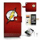 ( For iPhone 5C ) Flip Case Cover S9518 Flash