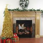 4' PRE-LIT PULL UP CHRISTMAS TREE GOLD  TREE 100 CLEAR LIGHTS NEW