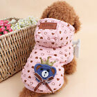 Puppy Pets Coat Jacket Hoody Winter Clothes Chihuahua Pet Costume Dogs Clothes