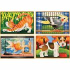 Puzzles Education Toys Kids Baby Toddler Melissa Doug Pets Wooden Box Jigsaw NEW