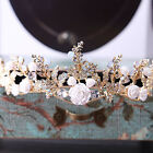 Vintage Wedding Bridal Crystal Flower Crown Headband Tiara Prom Hair Accessories