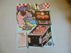 DINER FOLDED  PINBALL WILLIAMS  ARCADE GAME  FLYER    CFD