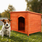 Wood Dog House Pet Shelter Large Kennel Weather Resistant Home Outdoor Ground