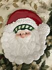 8 - 2007 Fitz & Floyd Stocking Stuffers Snack Dessert Appetizer Plate Santa EUC