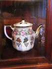SHENANGO CHINA  COFFEE SERVER OR PITCHER WITH GOLD GILT GRAPES  AND PINK ROSES
