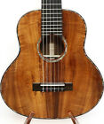 3A Curly Hawaiian Koa Baritone Guitarlele Sweet Sound Flannel Hard Case MGU02