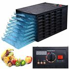 630W 8 Tray Black Electric Commercial Home Dehydrator Digital Timer Jerky Food