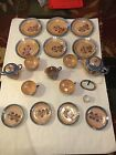 SALT BOWL SET 22 PCS ANTIQUE 1930 - 1940 PRE-WAR