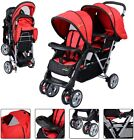 Foldable Twin Baby Double Stroller Kids Jogger Travel Infant Pushchair 3 color