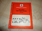 Allis Chalmers 700 series two way plows Operators Manual