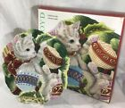 Fitz And Floyd Canapé Plate Kristmas Kitty Christmas Kitten Cookies Candy NIB