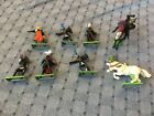 8 VINTAGE BRITAIN LTD 1971 DEETAIL ENGLAND TOY SOLDIER MEDIEVAL KNIGHT HORSE LOT