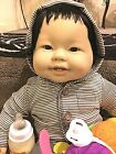 New 20 Inch Berenguer Asian American Baby baby with shiny black hair