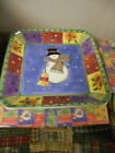Sue Zipkin The Sweet Shoppe Christmas Square Candy Dish NEW IN BOX #0996-97