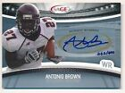 ANTONIO BROWN 2010 SAGE HIT RC ROOKIE SILVER AUTOGRAPH STEELERS AUTO SP #262 400