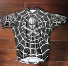 NEAT vintage 90s SKULL  SPIDER WEB cycling JERSEY x large USA