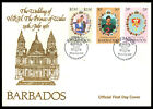 1981 BARBADOS WEDDING OF PRINCE CHARLES  LADY DIANA FDI COVER J51