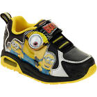 Minions Toddler Boys Black Yellow Lightweight Athletic Sneakers Shoes 8 12