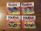 1970 VINTAGE LOT OF 4 TOOTSIETOY TOUGHS TRUCKS DIE CAST AMOCO, VAN,RESCUE PICKUP