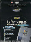 200 ULTRA-PRO HOLO PLATINUM 9 CARD POCKET PAGES SHEETS 209D PVC FREE